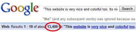 A spammy comment that made it to the SERPs