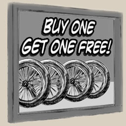 Buy one unicycle wheel and get another FREE!