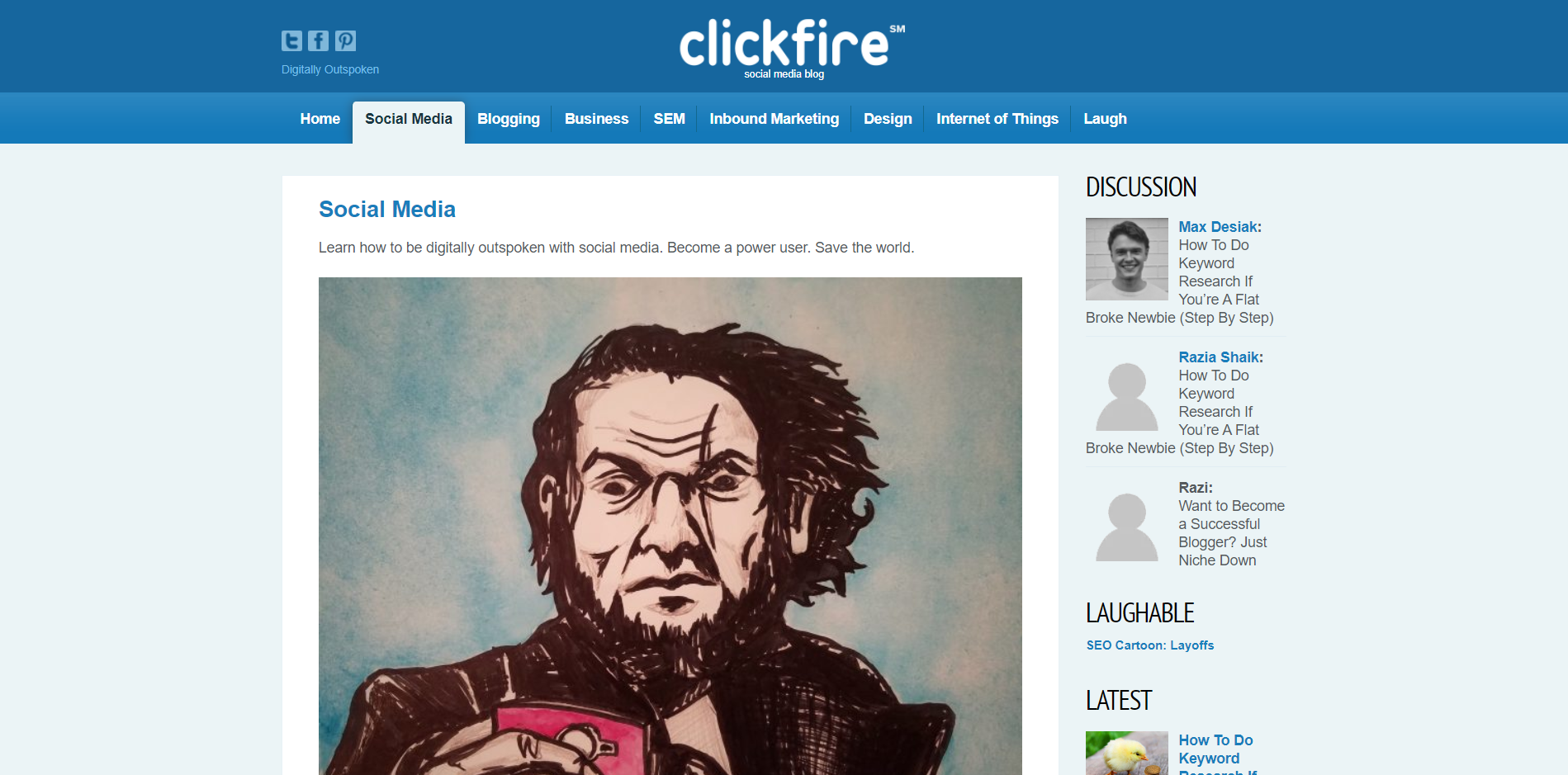 A category page onClickfire in 1920x1080 resolution