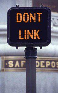 dont-link sign