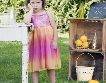 Sad Girl at Lemonade Stand