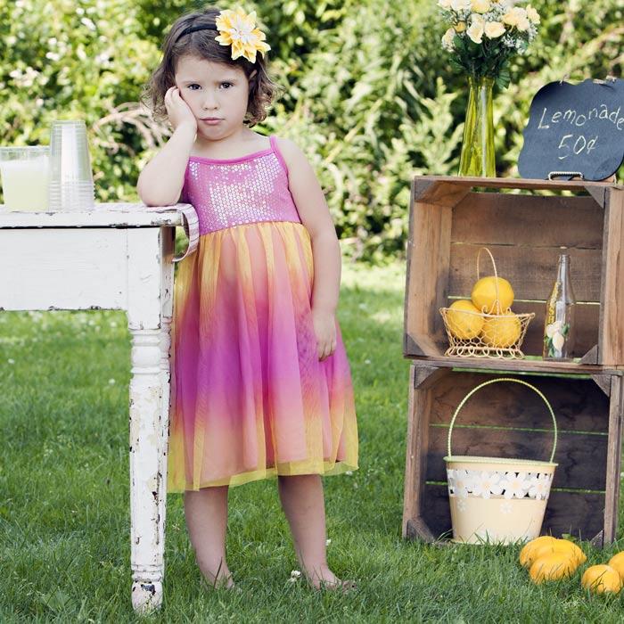 Sad Girl at Lemonade Stand
