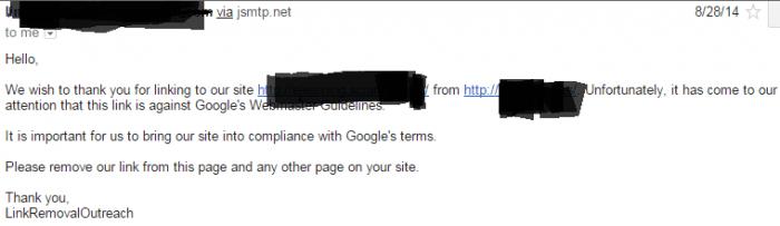 Link Spammer Email
