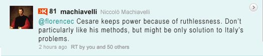 Machiavelli Tweet: Cesara