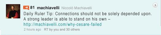 Machiavelli Tweet: Daily Ruler Tip