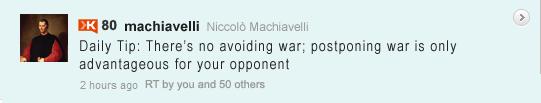 Machiavelli Tweet: Rule His Country