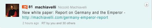 Machiavelli Tweet: Whitepaper