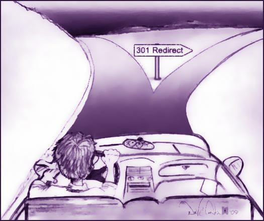 301 Redirect Cartoon