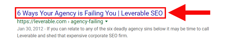Where title tags appear in the SERPs