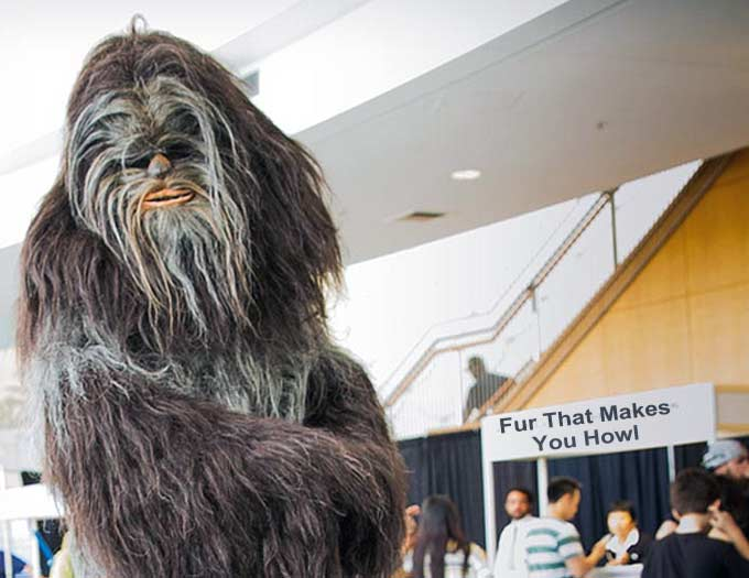 A Wookiee buying fur
