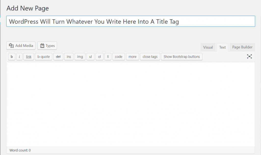 Conventionally, anything you type into the H1 field goes straight into the title tag